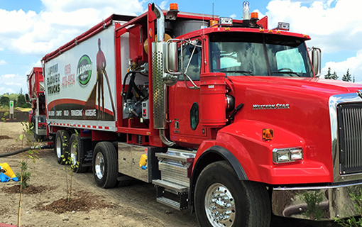 Trucks With Blowers : Blower truck services j lipani turf group